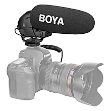 BOYA BY-BM3031 Shotgun Super-cardioid Condenser Broadcast Microphone with Windshield for  / Nikon / Sony DSLR Cameras(Black)