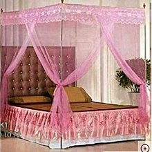 Pink Mosquito Net With Stand