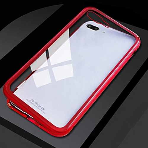 new arrival acbb2 46460 Ultra Magnetic Phone Case For iPhone Series Magnet absorption Shell Back  Cover clear red
