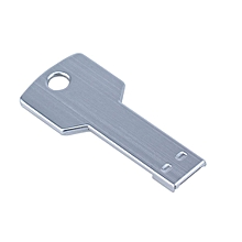 32G USB 2.0 Flash Drive Waterproof Stainless Steel (Silver)