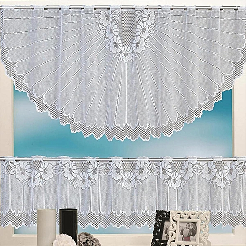 Lace Coffee Cafe Curtain Tier Set Kitchen Dining Room Decor