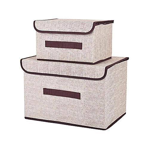 Office And Home Essentials Fabric Storage Box With Lids Large Foldable Storage  Box With Lid Basket