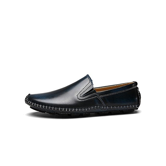 99b7133f8aaf9 Fashion Men's Simple Leather Loafer Shoes-Black @ Best Price Online ...