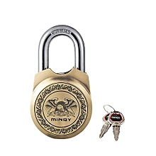 Mindy Padlock - With 4 Keys- colour Brass