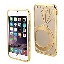 Crystal Star Diamond Frame Metal Bumper Case For iPhone6 6G 4.7Inch GD-Gold