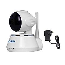 ESCAM QF510 Secure Dog WiFi Alarm IP Camera IR Night Vision Anti-fire Anti-gas 720P WHITE AU PLUG