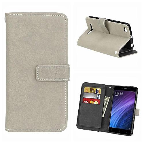 low priced b5818 25862 Redmi 4A Case, Retro Frosted Matte PU Leather TPU Inner Bumper With [9 Card  Slots] Wallet Magnetic Flip Stand Cover Case For Xiaomi Redmi 4A 5.0