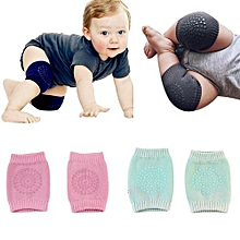 2 Pairs Baby Breathable Crawling Knee Pad Toddler Crawling Safety Protector,Random Color