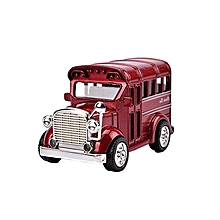 FS Big Sale Children Alloy Pull Back Vehicles with Lights Sounds Mini Car Model Toys Xmas Gifts for Kids Color:Retro school bus (random color)