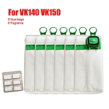6pcs Vacuum Cleaner Bags Dust Bag for Vorwerk VK140 VK150 + fragrance