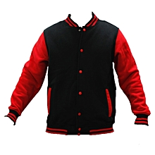 College Jacket-Red/ Black V Neck .
