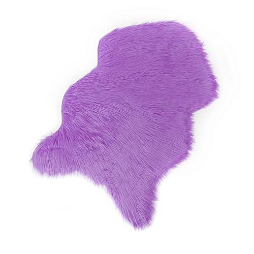 Purple Fur Rug Rugs Ideas
