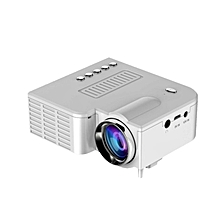 UC28B HD 1080P Mini LED Projector with USB TV AV  For Home Office Theater white