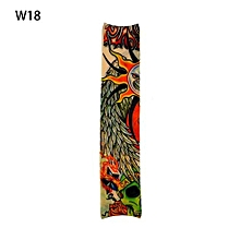 UL 1pc Fake Tattoo Elastic Arm Sleeve Stockings Sport Skins Sun Protective Multicolor