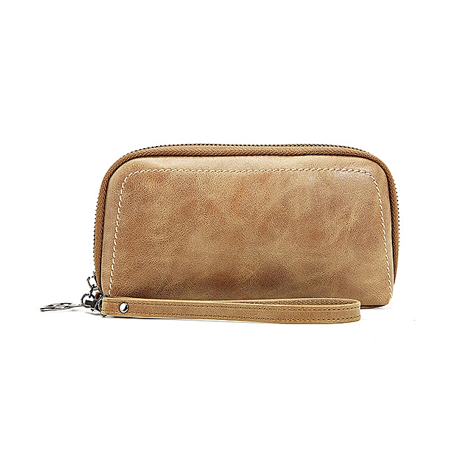158ac988c489 Fashion Women Genuine Leather Vintage Wallet Large Coin Purse Clutch ...