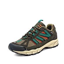 Spring Autumn Men Outdoor Shoes Leahter Breathable Hiking Mountain Trekking Shoes Anti-skid Men Climbing Shoes - Khaki