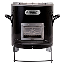 Kuniokoa Efficient Woodstove - Energy Saving - Black