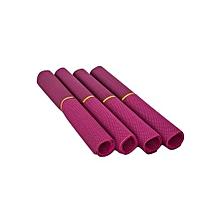Table Mat  - 45cm x 32cm - 4Pcs - Purple
