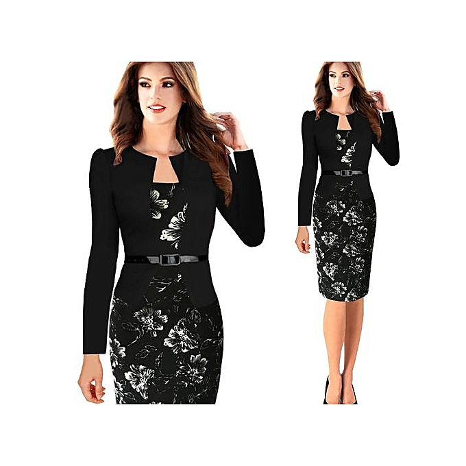 Buy Yingwoo Comfortable Women Office Dress Plus Size Faux Jacket One