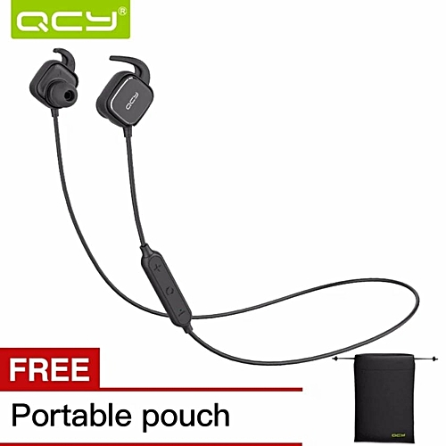 QCY Magnetic Bluetooth Headphones QY12 Bluetooth 4.1 Wireless In-Ear Sport Headsets with Noise Cancelling Earphone   DUXDD