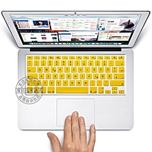 "13"" Air Skin, US Type German Silicone Keyboard Cover For 2008-2015 Macbook 13.3"" 15"" Pro Reitna/Imac G6, Yellow"