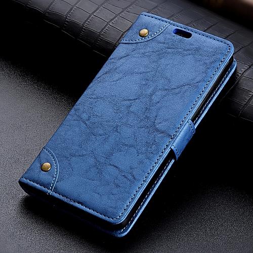 hot sale online e8e9e c7ad6 Leather Case for Nokia 6.1 Plus / X6 (2018) - Blue