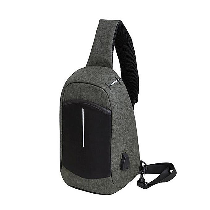 a6919bea7cd Men Casual Sling Chest Bag with USB Port Outdoor Travel Shoulder Crossbody  Bag