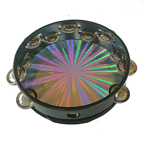 8inch Reflective Tambourine Percussion Double Row-Stock Church Band Music