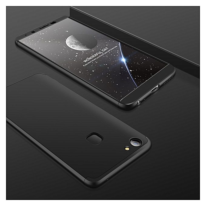 online retailer 74a08 d6885 For VIVO V7 Plus Case Y79 360 Degree Full Protection Case Hard PC 3 In 1  Fundas Coque Back Cover For Vivo V7plus Y 79 (Black)