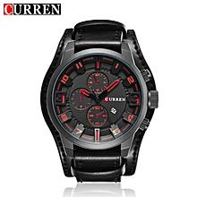 CURREN Brand Men's Sport Watch Leather Strap New Fashion Watch Quartz Watch