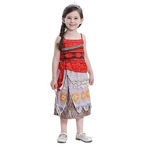 57f14dea0126 Fashion Girls dreeses Moana Outfit Princess Kids Adventure Cosplay Costume  Children Classic Deluxe Belle Ball Gown Dress Up Clothing WM-238