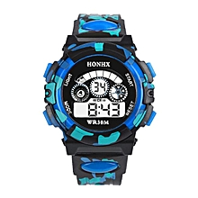 bluerdream-Outdoor Multifunction Waterproof Kid Child/Boy's Sports Electronic Watches-Blue