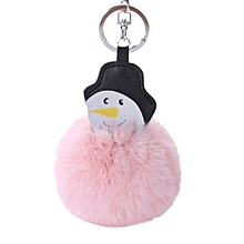 15CM Christmas Snowman Keychain Pendant Women Key Ring Holder Pompoms Key Chains