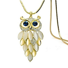 Women Owl Shaped Alloy Necklace -Gold