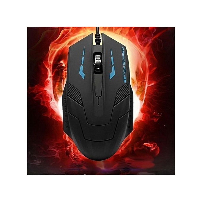 High Quality K059 USB 2.0 Wired 3D Optical LED Gaming Mouse 2400DPI For Laptop PC Computer
