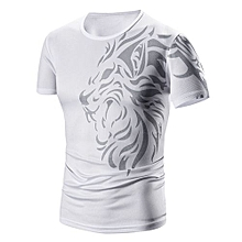 Printed Short Sleeve T-Shirt - White
