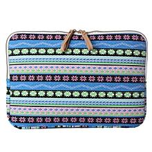 ELEGIANT Universal Zipper Laptop Bag Decorative Pattern Sleeve Case Laptop Pouch for Mac book Air Pro 14 Inch Devices