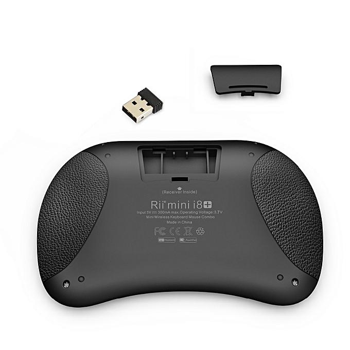 42360b3f17f ... RII Mini I8 Plus Spainish White Backlit 2.4G Wireless Mini Keyboard  Touchpad Air Mouse ...