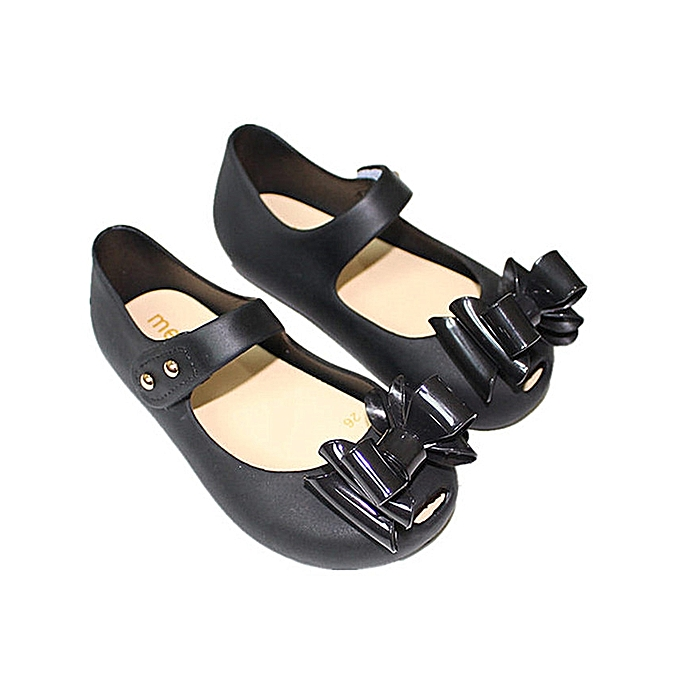 5d9d5da16c61 Girls Triple Bow Tie Sweet Princess Mary Jane Jelly Flats Sandals Shoes