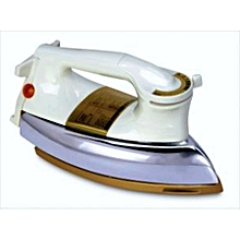 Heavy duty dry iron for domestic or commercial use