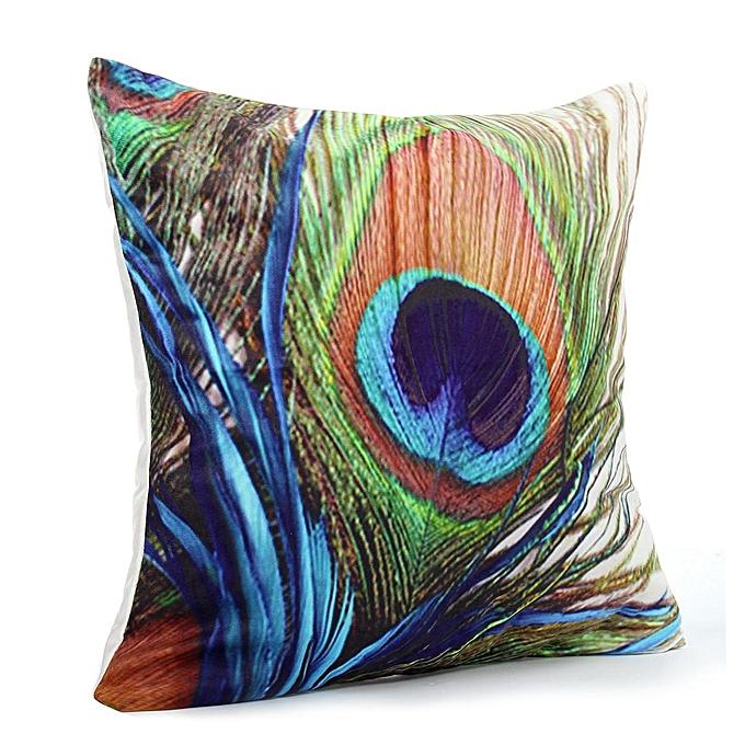45x45cm Pea Feather Polyester Pillowcase Soft Sofa Cushion Cover Home Decor
