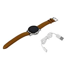 Leather Belt Sleep Monitor Watch Ultrathin Round Style Smart Wrist Watch