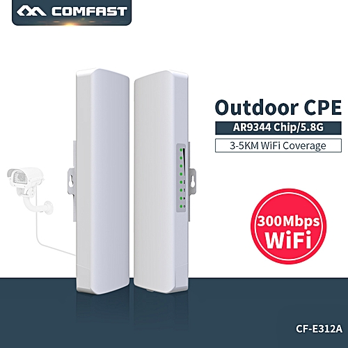 Comfast 300Mbps 5G wireless Outdoor Wifi Long range cpe 2*14dbi Antenna wi  fi repeater router Access point bridge AP CF-E312A