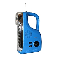 Rechargeable LED Radio Lamp - Blue