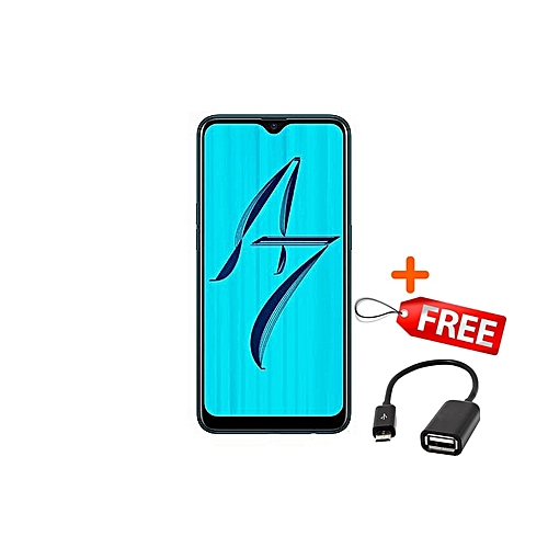 """A7 - 6.2"""" - 32GB+3GB RAM - 13MP+16MP - [Dual SIM] 4G - Blue"""