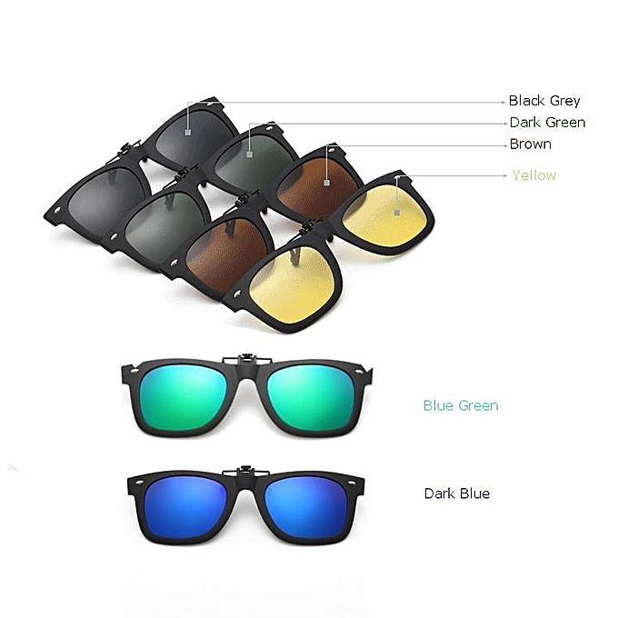 d3f192411e5 New Arrival Clip On Sunglasses Unisex Polarized Glasses Anti-Reflective  Lens Sun Driving Glasses Fishing