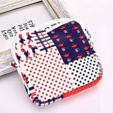 Fohting Women Girl Cute Sanitary Pad Organizer Holder Napkin Towel Convenience Bags -Red