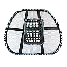 Chair Massage Back Lumbar Support Mesh Ventilate Cushion Pad Car Office Seat