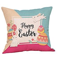 Happy Easter Pillow Cases Linen Sofa Cushion Cover Home Decor Pillow Case