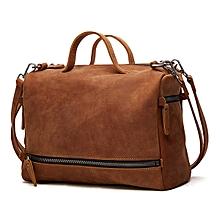 Ekphero Women Genuine Leather Minimalist Large Capacity Handbag Shoulder Crossbody Bag